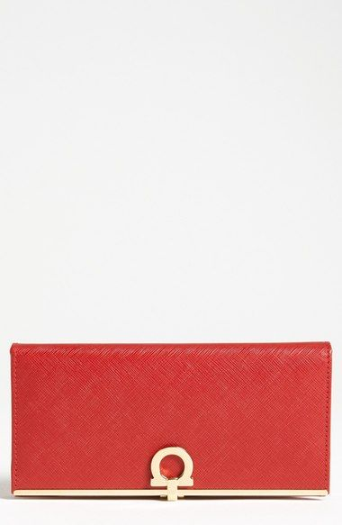 Salvatore Ferragamo 'Icona' Leather Wallet available at #Nordstrom