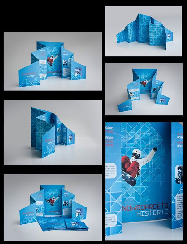 Snowboard creative brochure design 4 20+ Simple Yet Beautiful Brochure Design Inspiration & Templates: