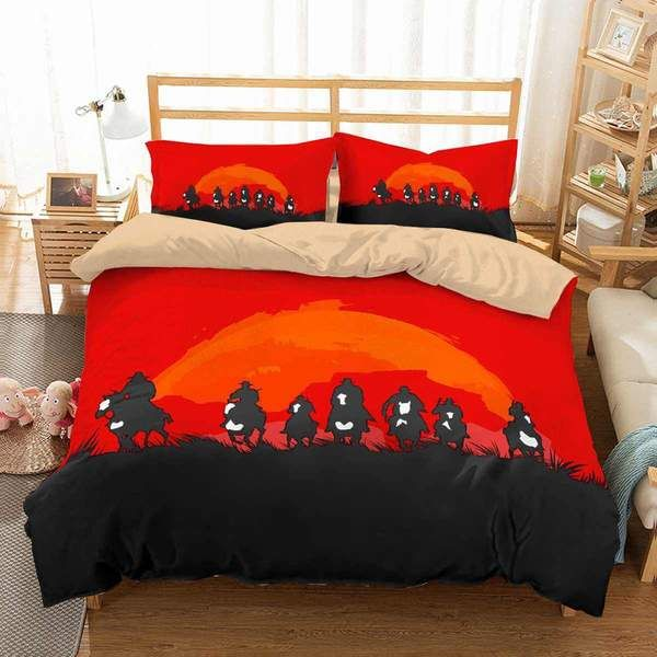 3d Customize Red Dead Redemption 2 Bedding Set Duvet Cover Set