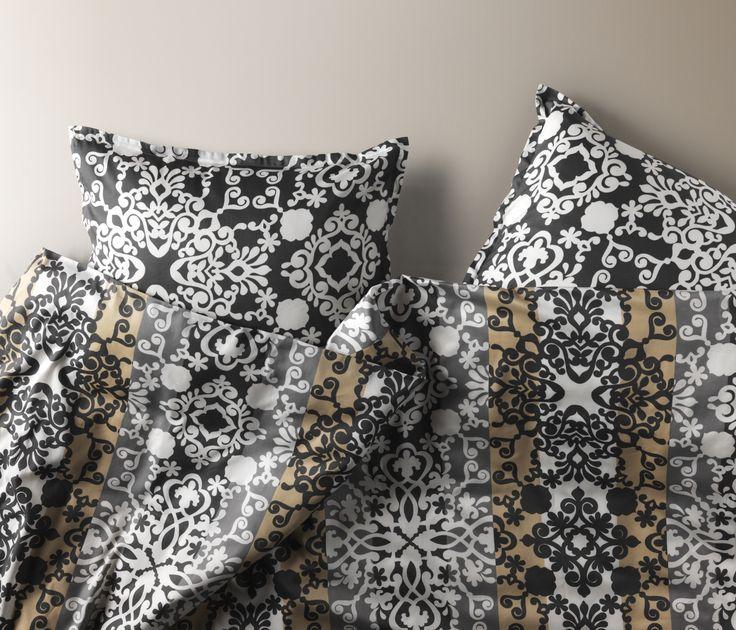 PRAKTRY dekbedovertrek met 2 slopen | #IKEAcatalogus #nieuw #2017 #IKEA #IKEAnl #slapen #slaapkamer #print #grijs #wit #beige #dekbed