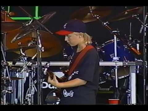 "Incredible! 13 year old Derek Trucks opening for the Allman Brothers Band in 1993, later to become one of their permanent guitarists and also Eric Clapton's when on tour. Pretty impressive! ""Layla/Jam"" July 4th 1993"