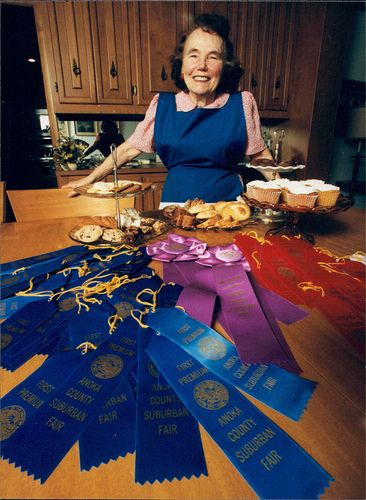 This lady is so cute! I saw her on Jay Leno and I'm looking forward to trying her recipes! Blueribbonbaking.com