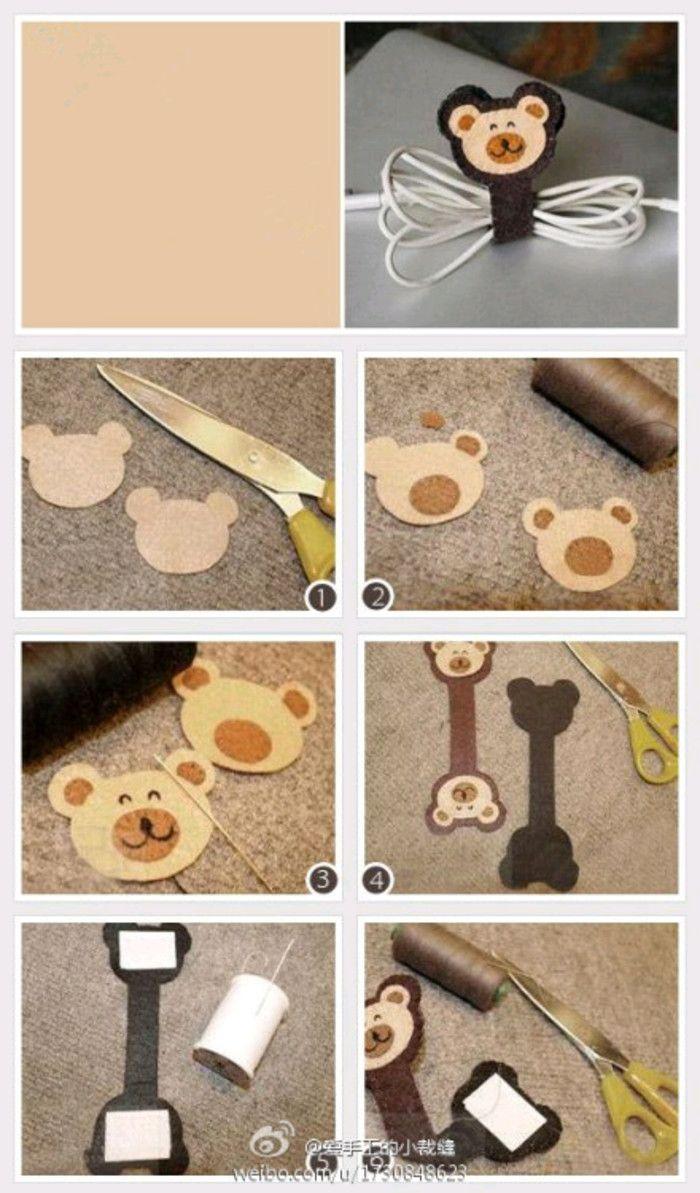 不织布 图纸 小熊 DIY