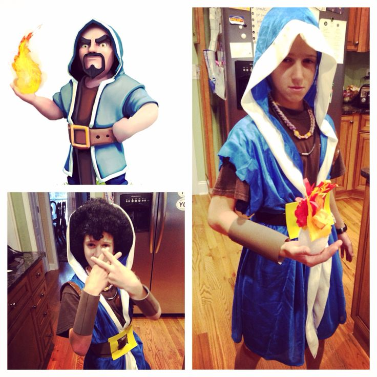 Homemade clash of clans wizard costume!