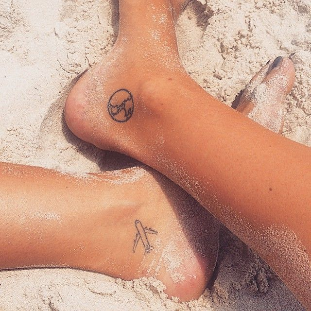 Pin for Later: 40 Tiny Tattoos For Travel-Lovers World Travels