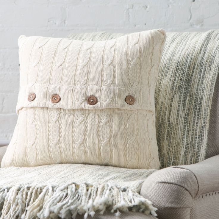 Love the knit pillows from Birch Lane. They have a bunch of different colors! & 376 best CABLE KNIT PILLOW images on Pinterest | Knit pillow ... pillowsntoast.com