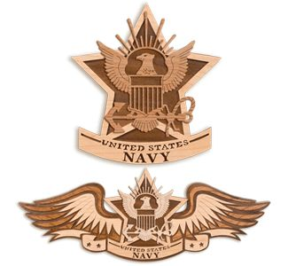 Scroll Saw Wall Art - NAVY Insignia Scroll Saw Plaque Pattern Set