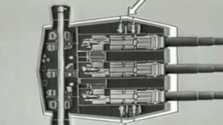 Big Guns! Navy Training Film on Battleship Main Gun Operation and Firing