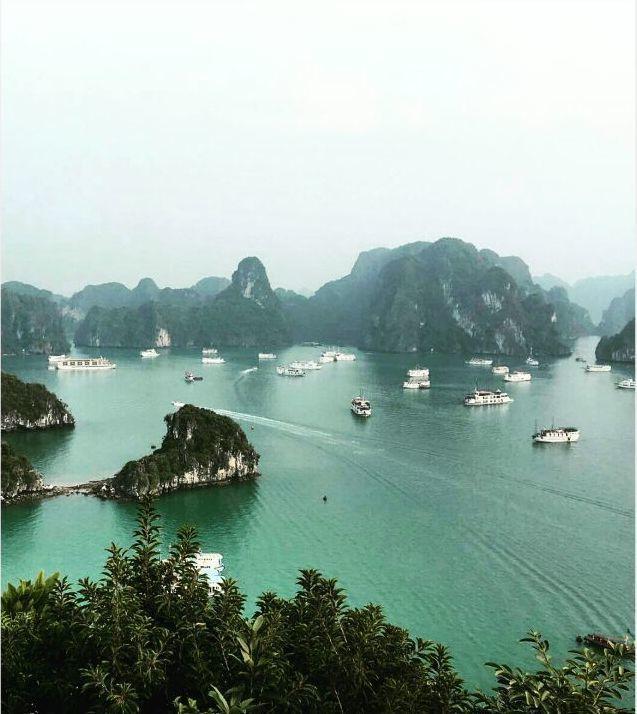 Ha Long Bay! Incrível destino!  Rogério está fazendo uma viagem fantástica pela Asia e mostrando no snapchat rog-lyra A Baía de Ha Long possui cerca de 3.000 ilhotas de calcário e é a mais conhecida baía do Vietnam. Halong Bay que literalmente significa baía onde desceu o dragão é Património Mundial da Unesco e situa-se na província de Quàng Ninh Foto: @comissariobrazil  #cruise #hanoi #vietnam #halongbay #wanderlust #exploremore #halongbayvietnam #whereivebeen #monkeyisland #travelinggram…