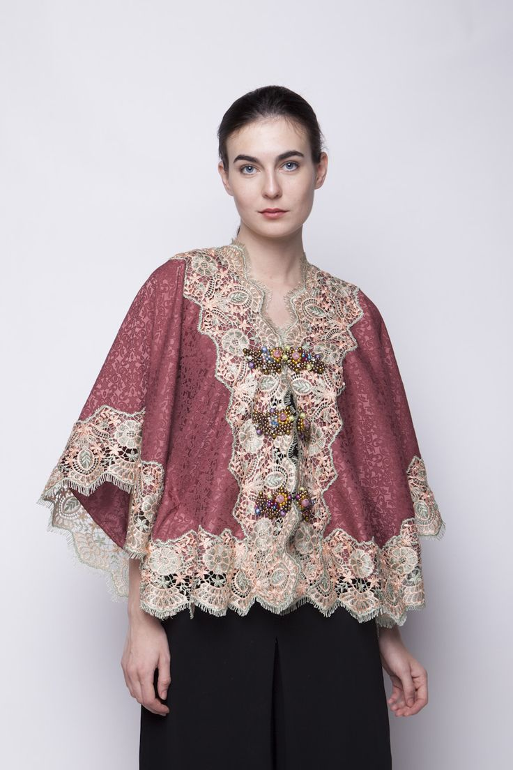 Jaquard Brown Blouse