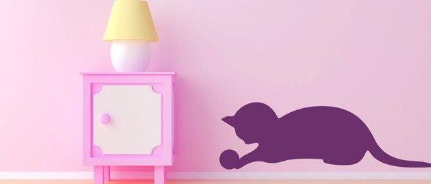Koťátko A (1329) / Samolepky na zeď, stěnu a nábytek