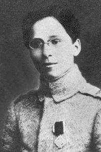 Ecaterina Teodoroiu, Romanian woman who fought and died in WWI.   She joined the Romanian Army as a nurse but later decided to become a front-line soldier. Being a women, she was sent to the front rather reluctantly. However, soon she proved her worthiness as a symbol and as a soldier. She was taken prisoner, escaped, was wounded and hospitalized, but returned to the front. She was decorated for bravery and  given the command of a 25-man platoon. She was killed in the battle of Marasesti.