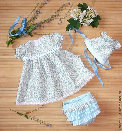 Одежда для девочек, ручной работы. Шебби комплект для новорожденного, платье для младенца. Юлия Кихтенко. Детские платья. Интернет-магазин Ярмарка Мастеров.