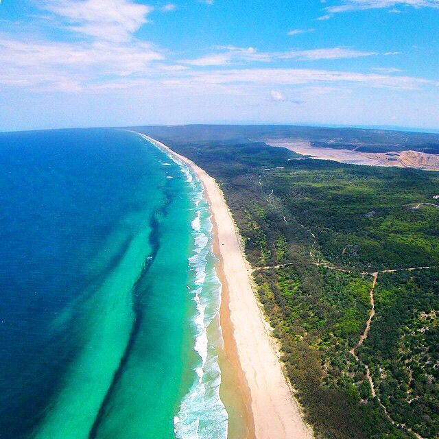 North Stradbroke Island at 500m. #thisisqueensland by @christopher_airey | #brisbaneanyday @visitbrisbane
