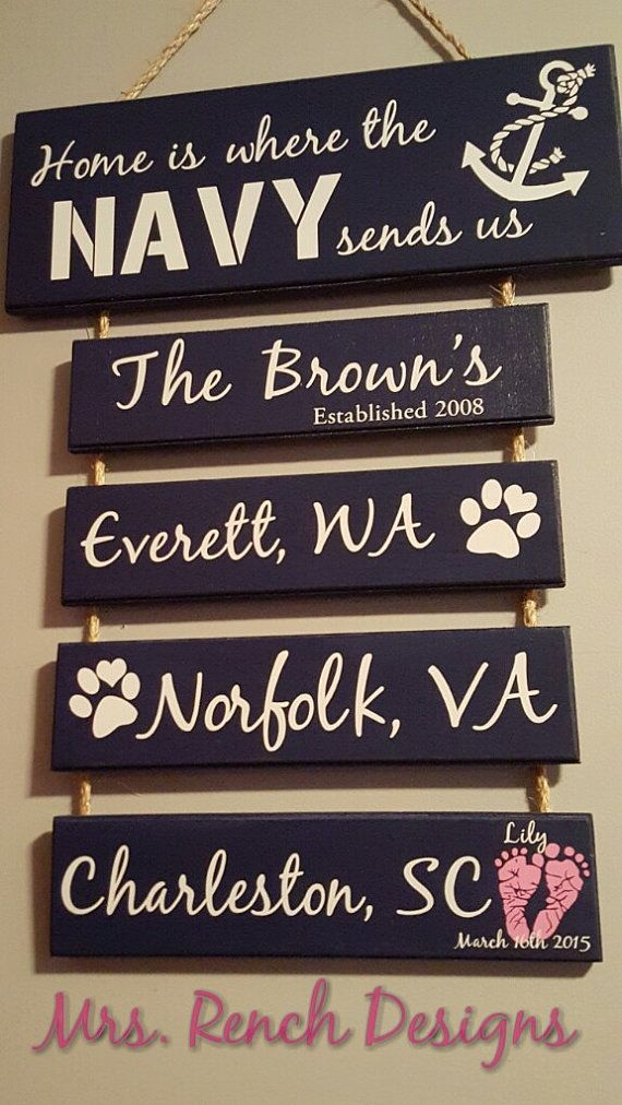 Home is where the Navy sends Us by MrsRenchDesigns on Etsy