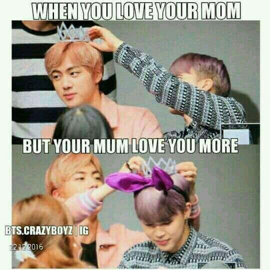 """Ajjaja """"cuando amas a tu mamá. Pero tu mamá te ama más"""" ay qué lindo!!"""