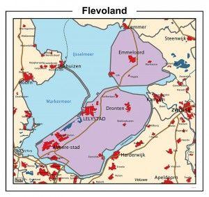 Kaart Flevoland 450