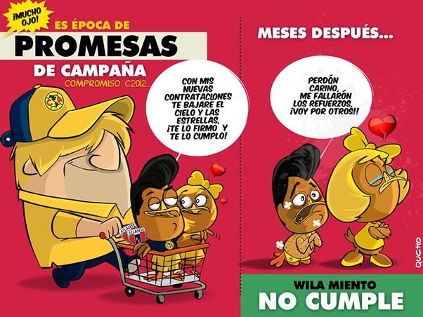 Promesas de campaña... El cartón de Qucho