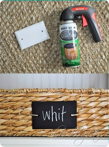 make chalkboard labels from switch covers + chalkboard paint {genius! and cute!}