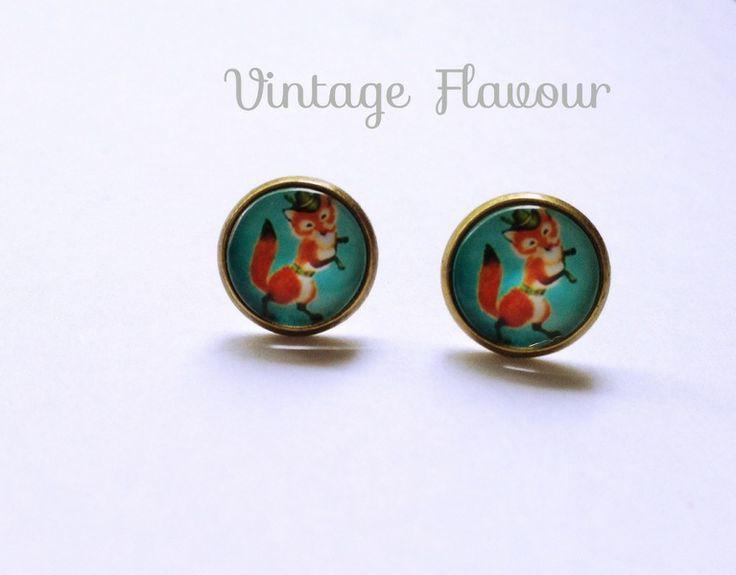 Ohrstecker Tanzender Fuchs ♥ Ohrringe ♥ Vintage von Vintage Flavour ♥  auf DaWanda.com