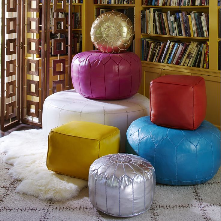 POUF! Your Seating Dilemmas Are Gone. These are so great + versatile, a decor MUST-HAVE!!