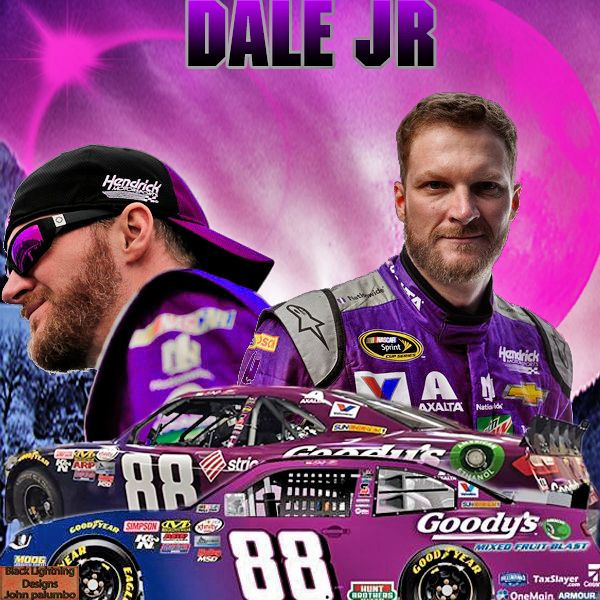 Dale Earnhardt Jr Drives His Dads Car