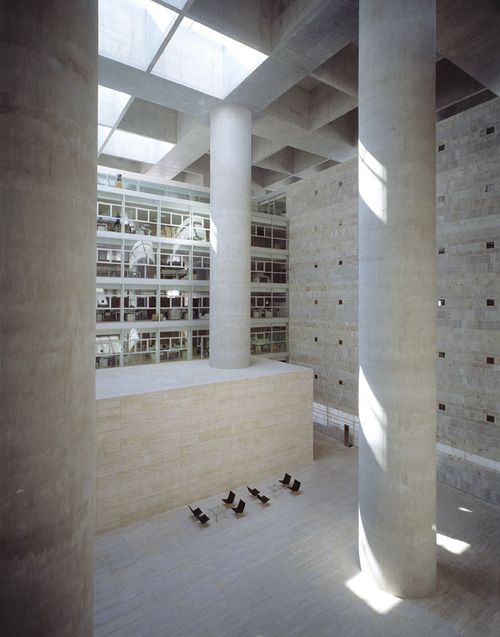 Alberto Campo Baeza- Caja de Granada, 2001. Photos (C) Roland...