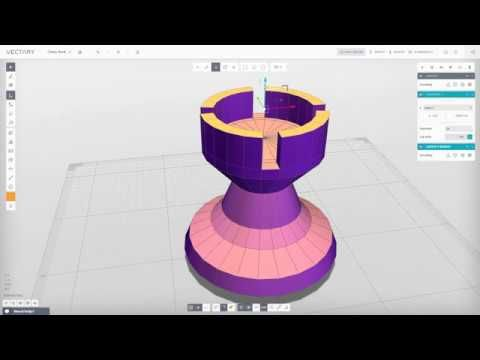 VECTARY | 3D Modeling Tutorial | Chess Rook (beta 1.2.6) - YouTube