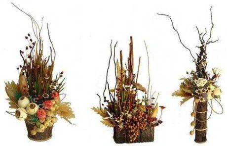 Dekorace ze sušených květů |