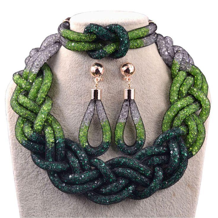 Giới hạn thời gian Top thời trang sang trọng thường xanh nigeria trang sức set wedding beads phi jewelry đặt dubai bộ đồ trang sức N1013