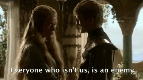 That time when Cersei tells Joffrey that they're the only people who matter.