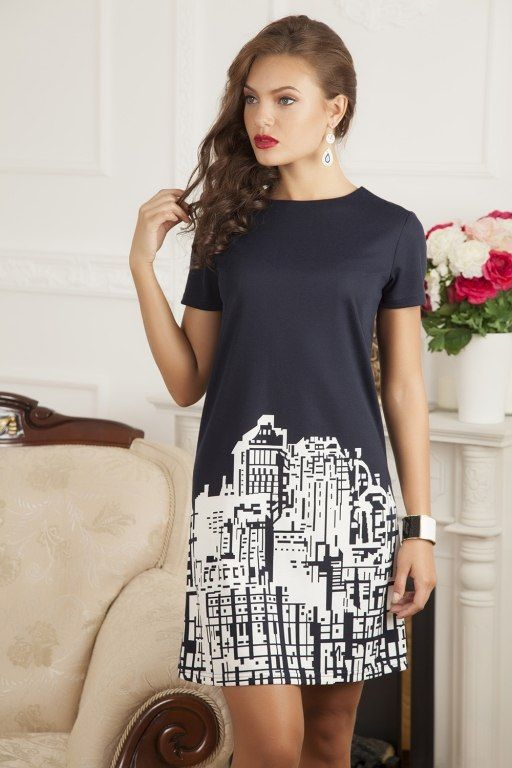Выкройка платьица футляр с длинноватым рукавом 44 размера