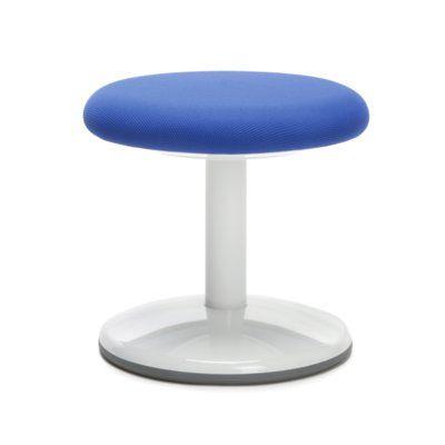 OFM Orbit Vinyl Lab Stool with Wheel Upholstery: Blue Static