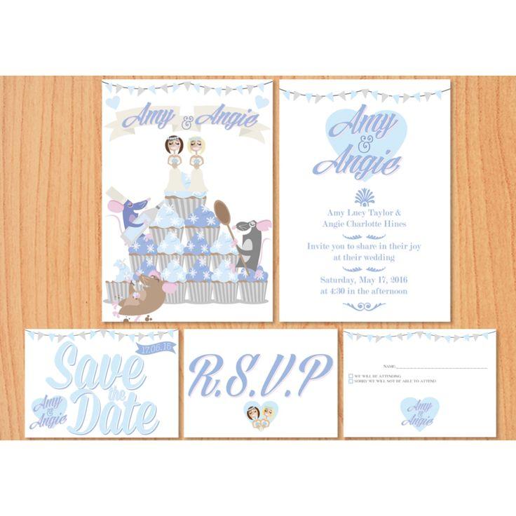 Our bespoke Ratatouille themed wedding stationery.