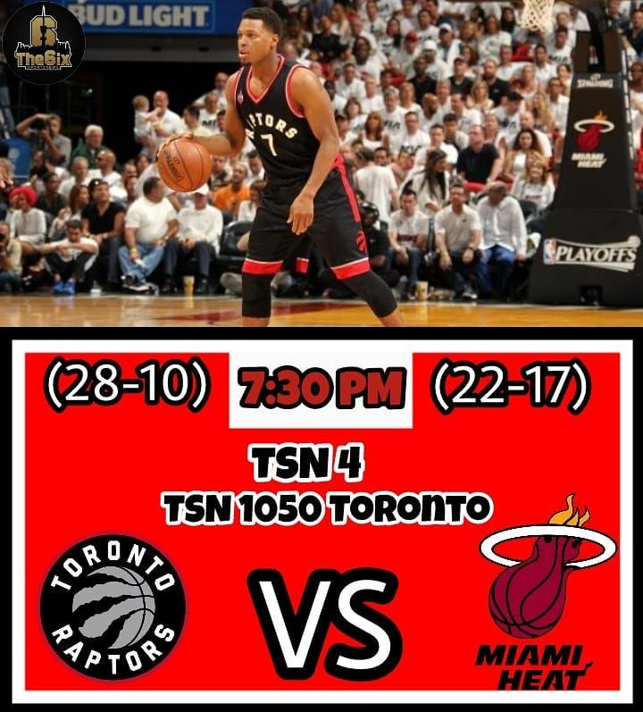 The Raptors will face the Miami Heat tonight at 7:30 PM and look to improve their win streak to 6-Games. Kyle Lowry will not play this game as he is listed day-to-day. Tune in on TSN 4 or radio TSN 1050 Toronto. . . . . #warriors #nba #basketball #nyknicks #knicks #raptors #torontoraptors #celtics #bostonceltics #sixers #philadelphiasixers #nets #lbj #playoff #heatnation #letsgoheat #ilovethisgame #slam #court #myteam #rockets #ballers #buckets #baloncesto #streetball #ballup #nbamemes…