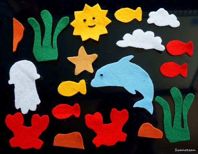 Swanocean: Ocean themed felt quiet page-Υφασμάτινη σελίδα παιχνίδι με θέμα τον ωκεανό