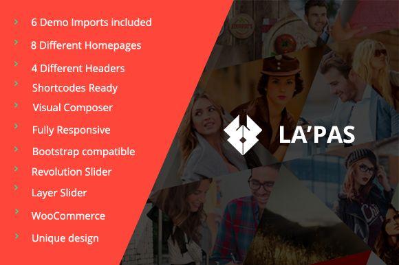 Lapas Responsive WordPress Theme by VicTheme on Creative Market