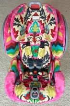 Fancy Damask and Hot Pink Toddler Car Seat Cover