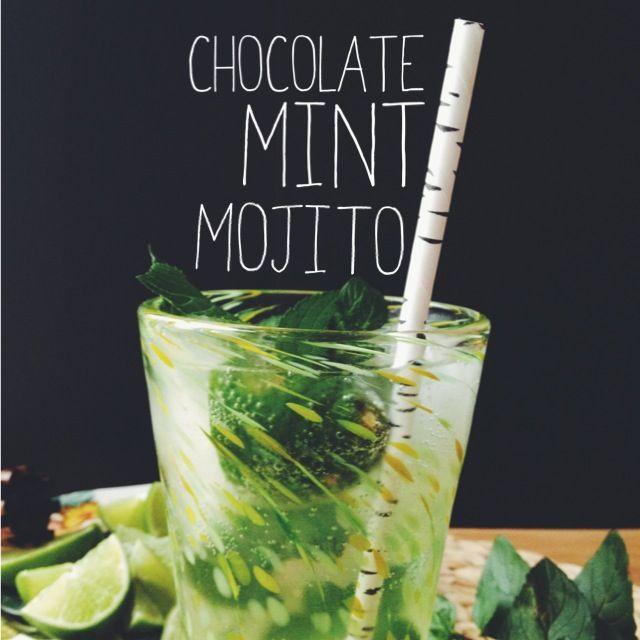 chocolate mint mojito time-I need to try this! I have a chocolate mint plant and didn't know what to do with it!