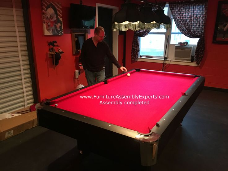 Billiard pool table assembly and installation specialist in Washington DC - Maryland - Virginia - Delaware - Philadelphia.  check out this Mizerak pool table assembled for a customer in frederick Maryland Call 240-764-6143 to get yours assembled or book service online at  Same day service - Next day service