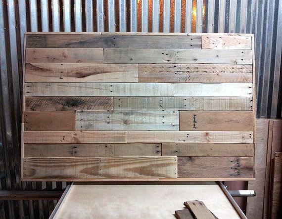 Pallet headboard sale twin size full size queen size for Queen size pallet headboard plans