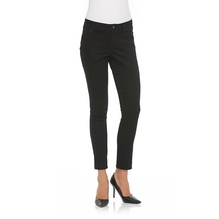 Metaphor Womens Jeggings Low Rise Stretchy Twill Zipper Cuffs Black size 8 NEW 16.99 http://www.ebay.com/itm/Metaphor-Womens-Jeggings-Low-Rise-Stretchy-Twill-Zipper-Cuffs-Black-size-8-NEW-/253038623062?ssPageName=STRK:MESE:IT
