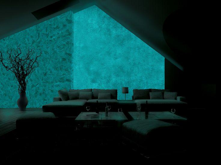 Obývačka -  MAGIC LIGHT - fosforujúci náter