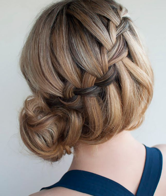 Glam up your hair with this waterfall braid.