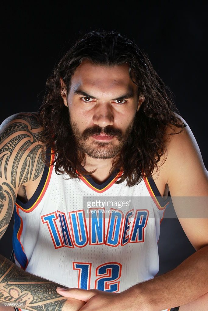 Steven Adams #12 of the Oklahoma City Thunder poses for a portrait during 2016 NBA