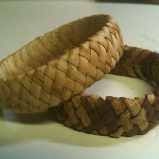 Cedar weaved bangles I weaved - thanks to a lesson from Pam Talsky
