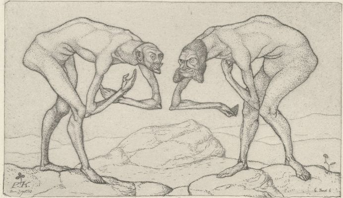 Paul Klee. Two Men Meet, Each Believing the Other to Be of Higher Rank | Paul  klee, Line drawing, Art