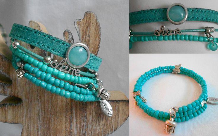 Mooie combinatie in turquoise groen. www.tinytreasures.nl www.facebook.com/mariastinytreasures