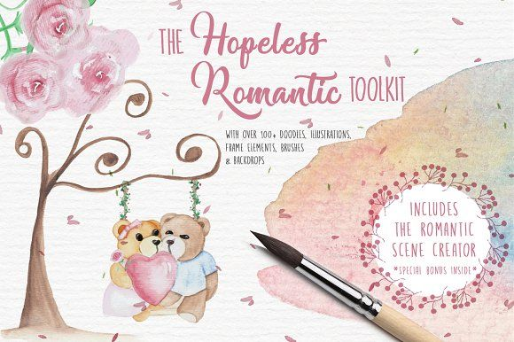 The Hopeless Romantic Toolkit by Janice Designs on @creativemarket