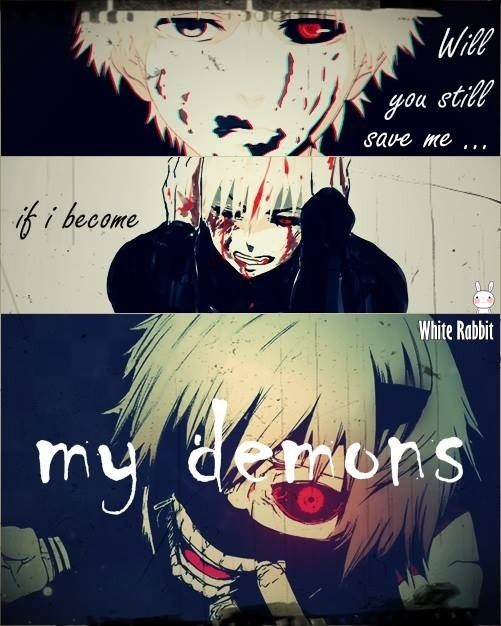 Omgosh Starset My Demons mixed with Tokyo Ghoul = Yes